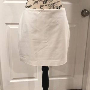 White Express mini skirt size 8
